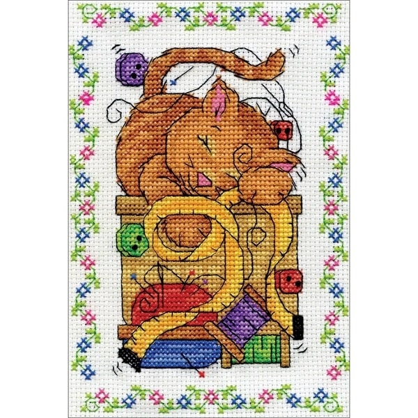Sewing Cat Counted Cross Stitch Kit 30259955