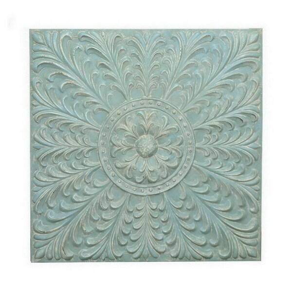Three Hands Metal Wall Decoration -Blue 30260824