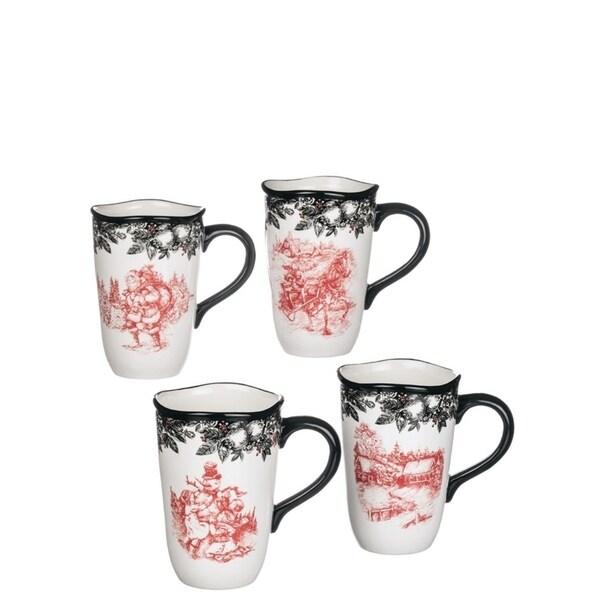 Old Fashioned Christmas Mugs-Set of 4 30260854