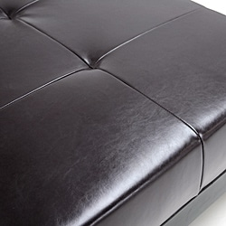 Jonathon Brown By-cast Leather Bench Ottoman