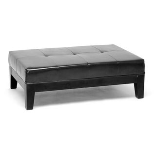 Jonathon Black By-cast Leather Bench Ottoman