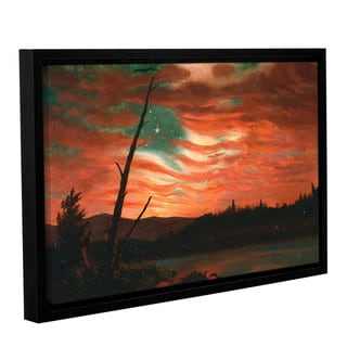 Frederick Edwin Church's Our Banner in the Sky, Gallery Wrapped Floater-framed Canvas