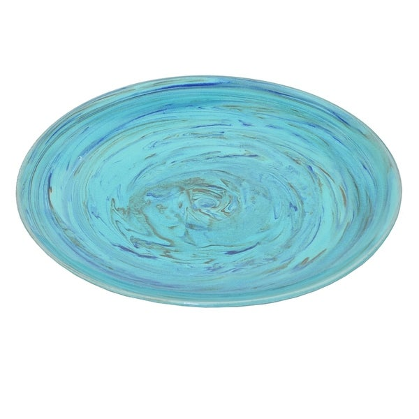 Three Hands Ceramic Plate Turquoise 30278092