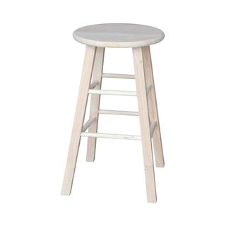 International Concepts Unfinished Round Top Stool