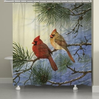 Laural Home Cardinals and Frost Shower Curtain