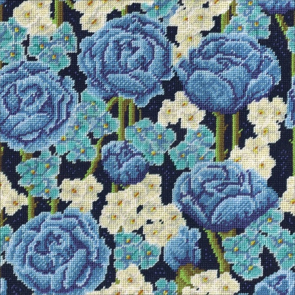 Blue Roses Needlepoint Kit 30293643