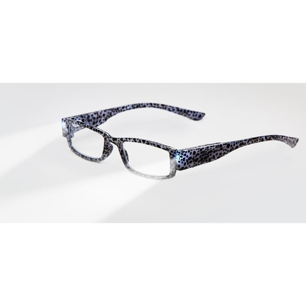Multi Strength Eyeglass LED Reading Glasses LG Grey Tiger Optic By Finess 30299710
