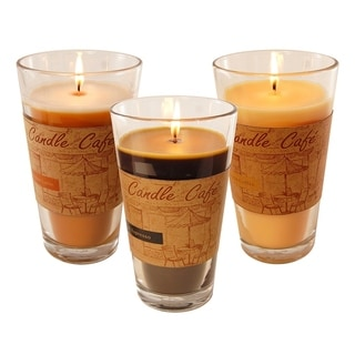 Cafe Collection Scented Candles in 11oz Glass Jars (set of 3)