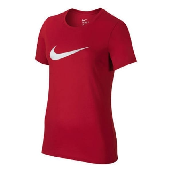 Nike SWOOSH IT UP TEE Women's Basic Large Red Graphic T-Shirt 30329100