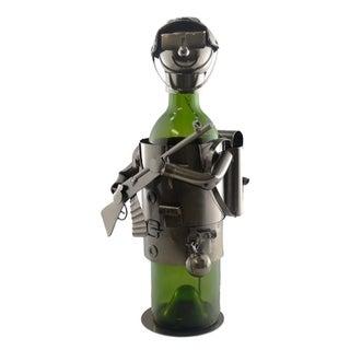 Wine bottle holder by Wine Bodies, military soldier