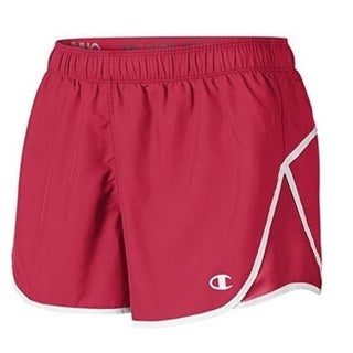 Champion Women's Woven Sport Short -L - Scarlet 30355270