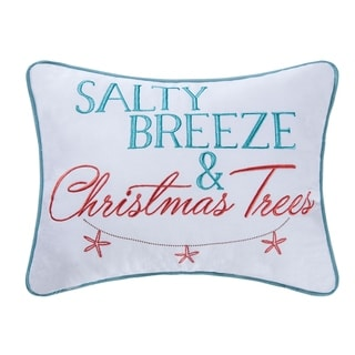 Salty Breeze Embroidered 12x16 Throw Decorative Accent Throw Pillow