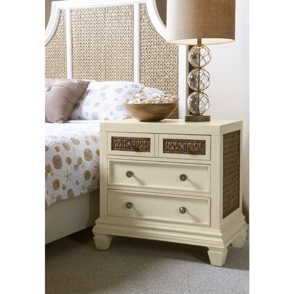 UPC Panama Jack Bridge Hampton Antique White Wood - Panama jack bedroom furniture