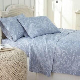 Winter Brush Deep Pocket Floral or Solid Color Bed Sheet Set