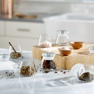Libbey Vibe Mini Glass Jars with Lids, Set of 12