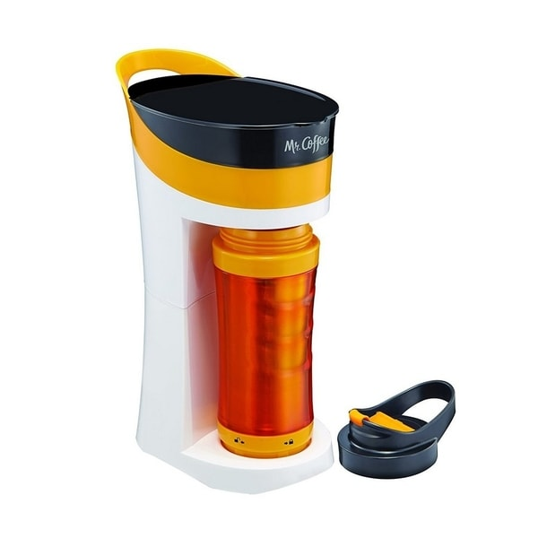 Mr. Coffee BVMC-MLOR 16oz Personal Coffee Maker TO-GO mug Tangerine Orange 30383507