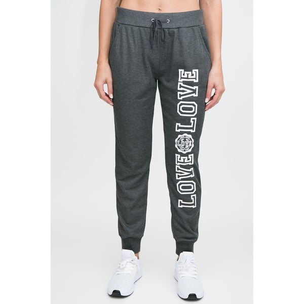RAG Womens Active Terry Joggers - Love Love Screen 30444713