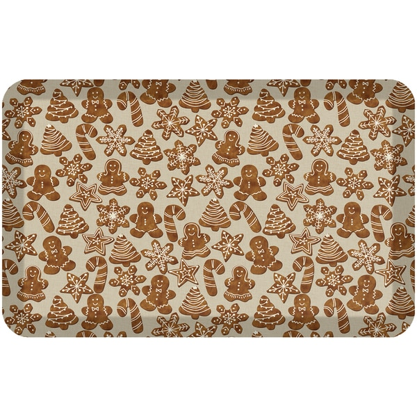"NewLife Gingerbread Holiday Kitchen Mat (1'8"" x 2'8"") - 1'8 x 2'8 30448306"