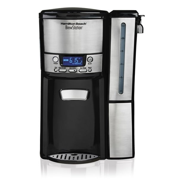 Refurbished Hamilton Beach 12 Cup Coffee Maker Programmable Black/Stainless Steel-47950 30448660