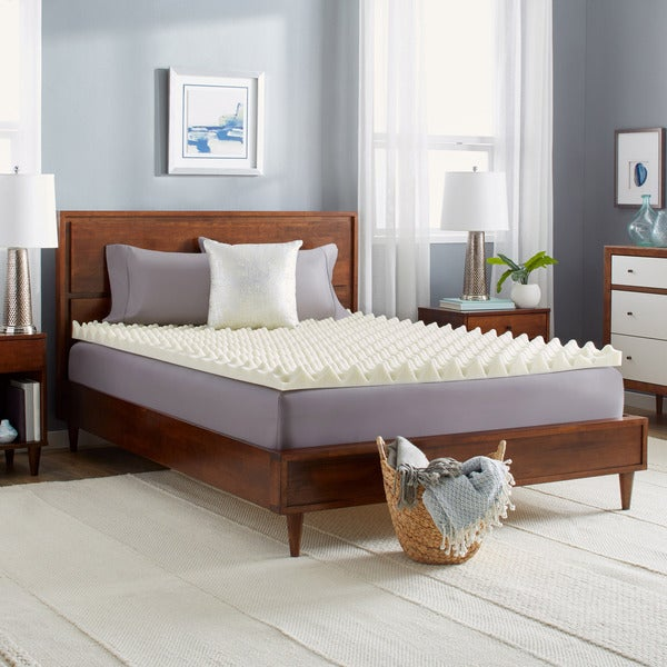 Slumber Solutions Big Bump 3-inch Memory Foam Mattress Topper Full Size (As Is Item) 30456367