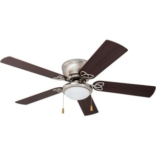Prominence Home Benton Maple/ Brushed Nickel Hugger LED Ceiling Fan