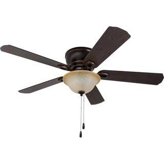 "52"" Woodmere Hugger LED Ceiling Fan, Oil-Rubbed Bronze"
