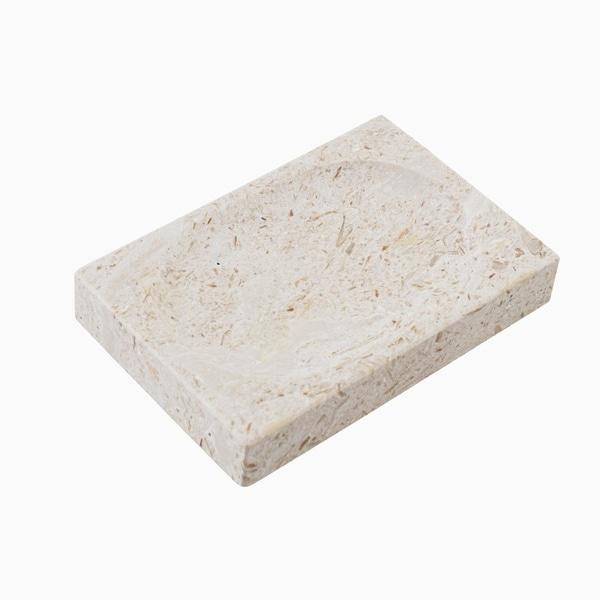 Maykke Hudson Soap Dish, Golden Cream Marble 30465324