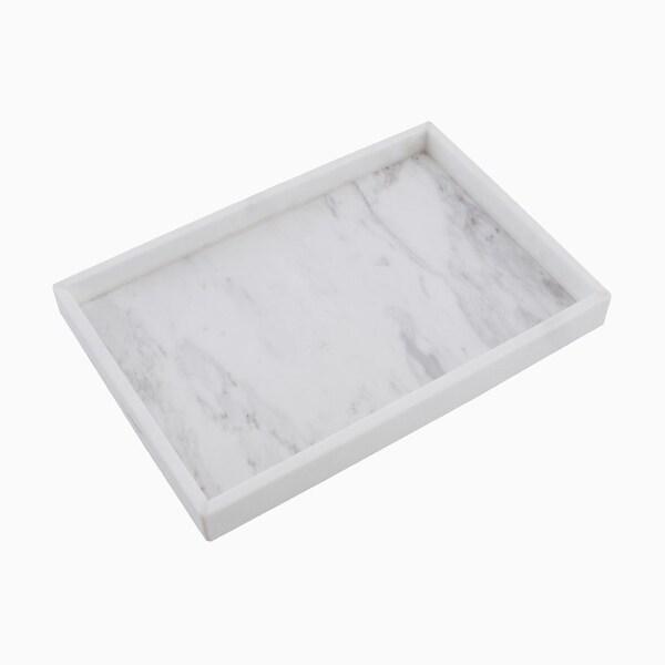 Maykke Brax Rectangle Display Tray, White Marble 30465330
