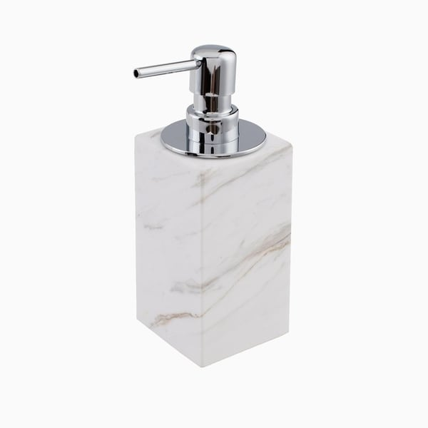 Maykke Brax Soap Dispenser with Pump, White Marble 30465331