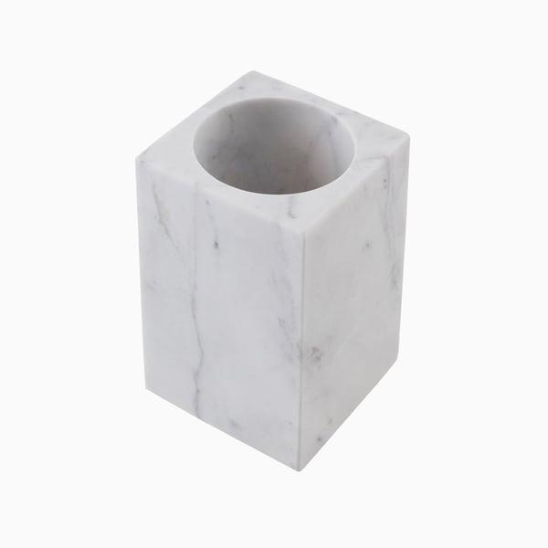 Maykke Brax Toothbrush Cup, White Marble 30465334