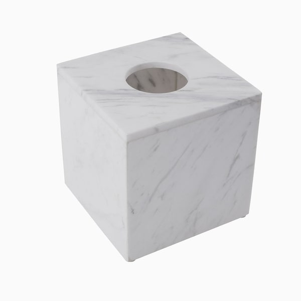 Maykke Brax Tissue Box, White Marble 30465338