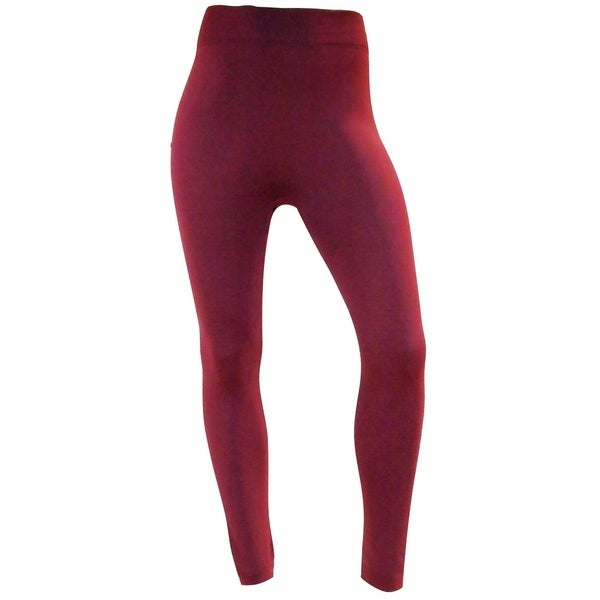 Women's Slim-Fit Hi-Waist Active Stretch Yoga Leggings - Maroon 30467847