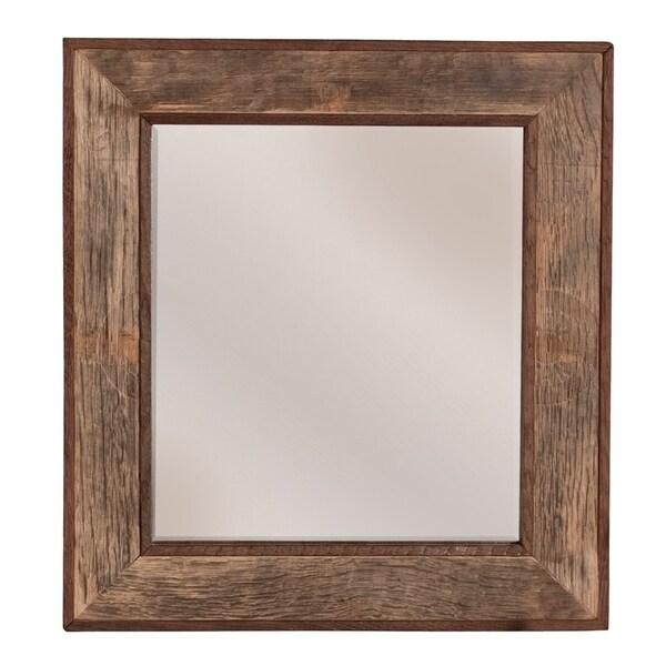 Bordeaux Natural Oak Rectangular Mirror 30472405