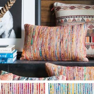 Textured Multi Stripe 13 x 21 Throw Pillow or Pillow Cover