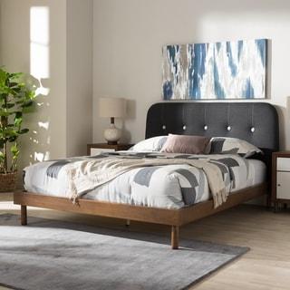 Carson Carrington Sodertalje Mid-century Grey Fabric Platform Bed