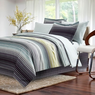 Brown & Grey Strata Dark Charcoal 8-piece Bed-In-Bag