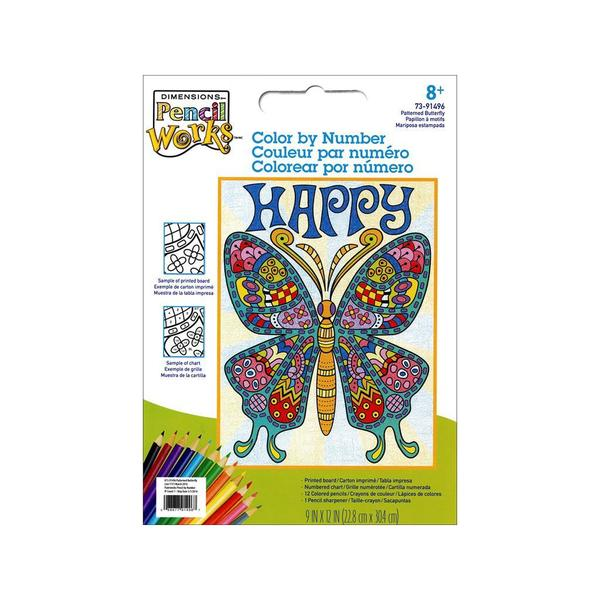 Dimensions Color By Number 9x12 Pattern Butterfly 30491028