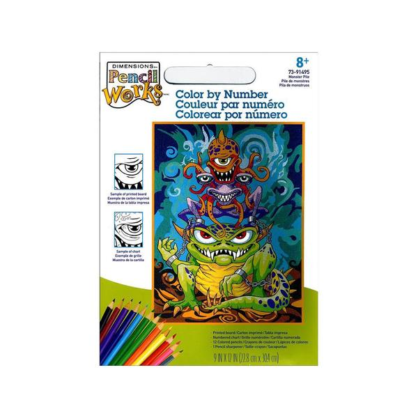 Paintworks Color By Number 9x12 Monster Pile 30491032