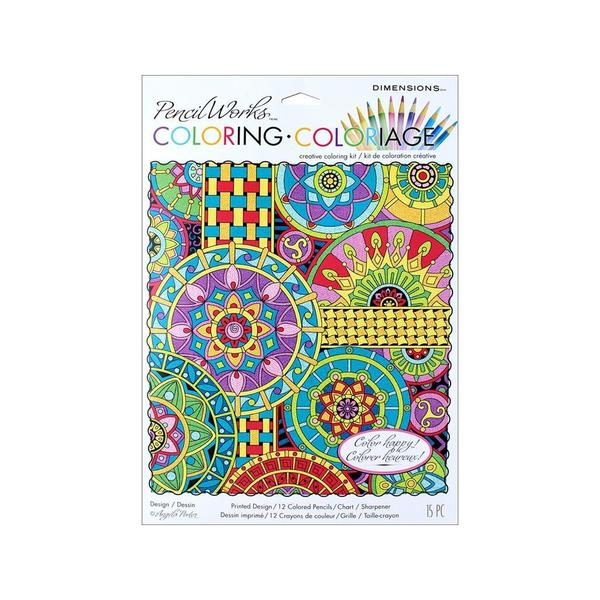 Dimensions Color By Number 9x12 Mandala Mont 30491034