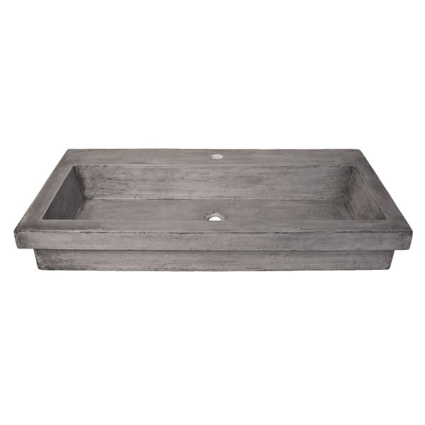 Trough 36-inch NativeStone Undermount/ Drop-in Rectangular Bathroom Sink 30491726