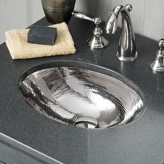 "Baby Classic Polished Nickel Undermount Bathroom Sink - 15.75"" x 12"" x 5"""