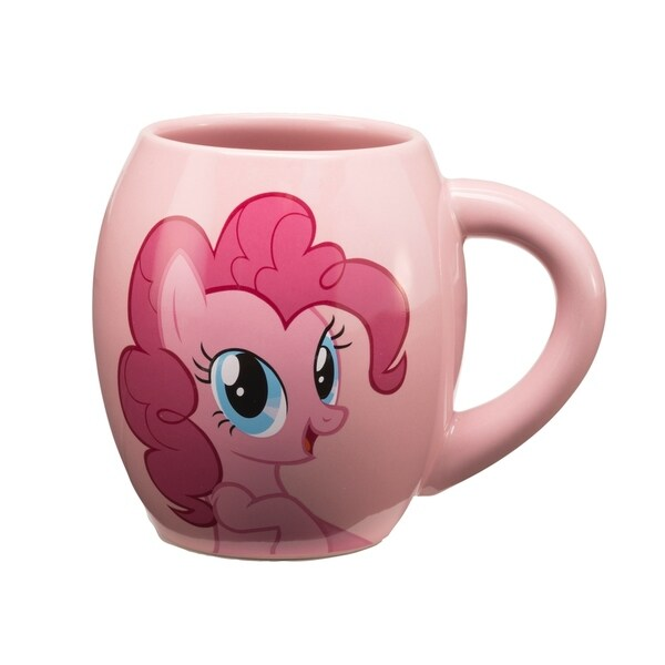 Vandor My Little Pony 18 oz. Pinkie Pie Ceramic Oval Mug 30494431