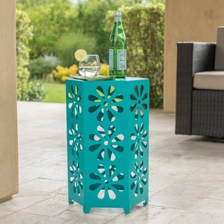 Dandelion Outdoor 14-inch Floral Side Table by Christopher Knight Home