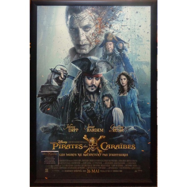 Pirates of the Caribbean French Version - Signed Movie Poster 30525718
