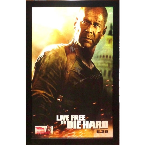 Live Free or Die Hard - Signed Movie Poster 30525767