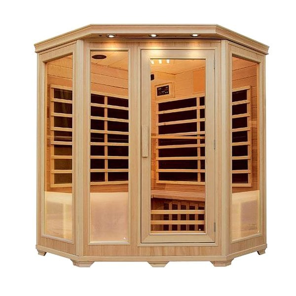 ALEKO 3-4 Person Wood Indoor Dry Infrared Sauna with Heaters 30525978