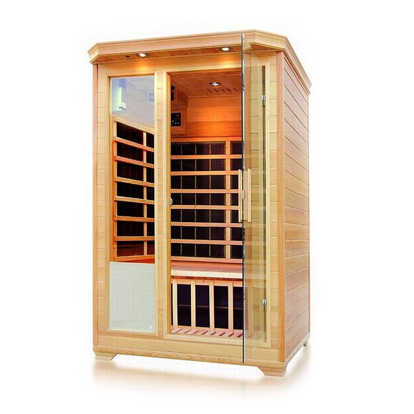 ALEKO 2 Person Wood Indoor Dry Infrared Sauna with Heaters 30525979