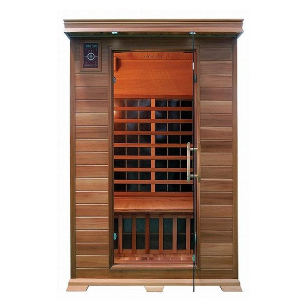 ALEKO 2 Person Wood Indoor Dry Infrared Sauna with Heaters 30526023