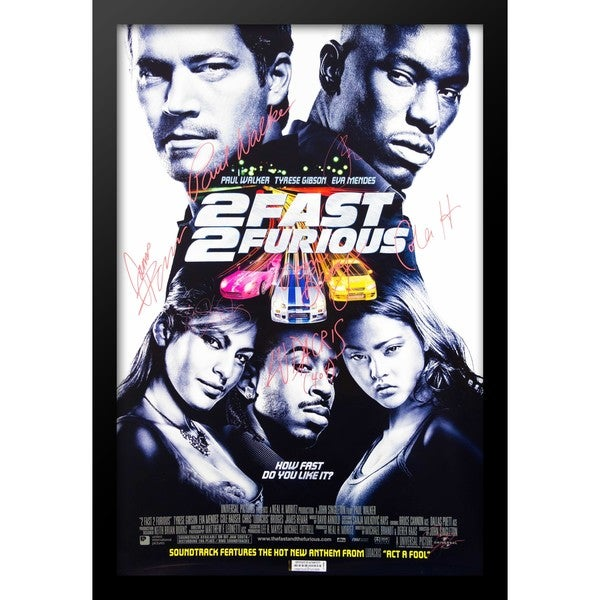 2 Fast 2 Furious Movie Poster - Signed Movie Poster 30526075