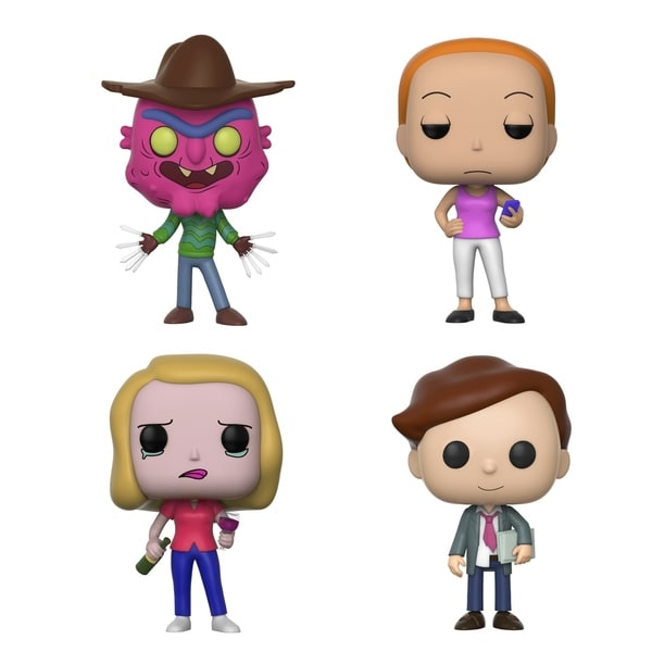 Funko POP! Animation Rich & Morty Collectors Set Seires 3; Scary Terry, Summer, Beth w/ wine glass, Lawyer Morty 30637739